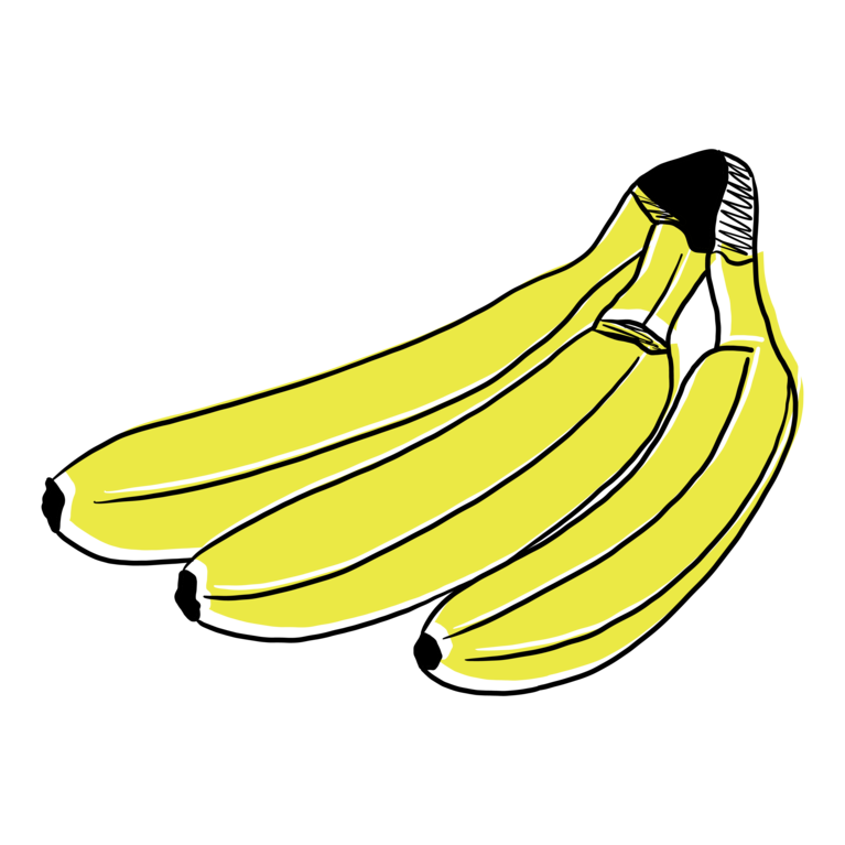 GMF 3 Bananen Illustration