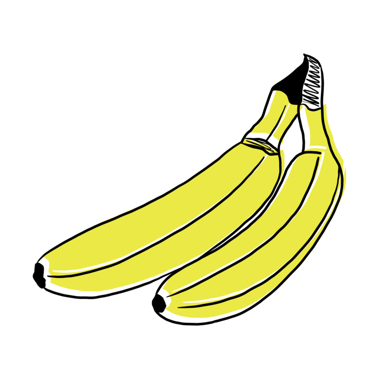 GMF 2 Bananen Illustration