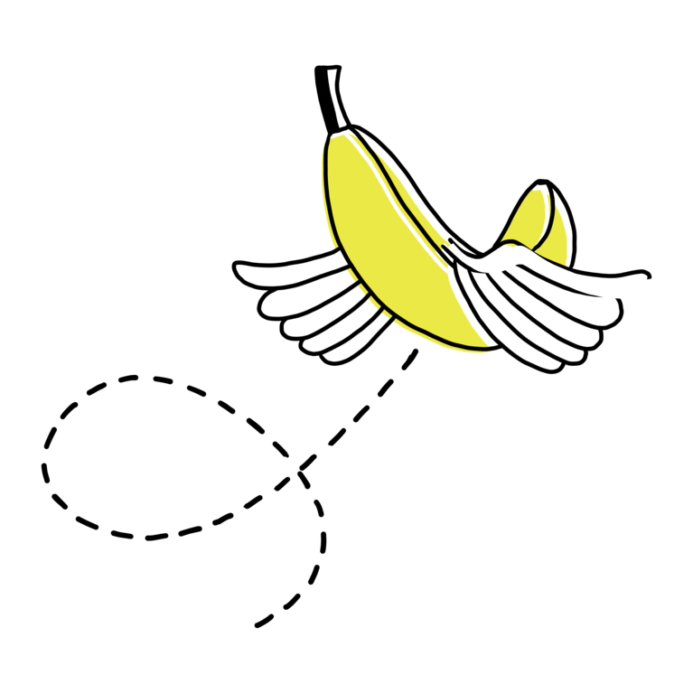 GMF fliegende Banane Illustration