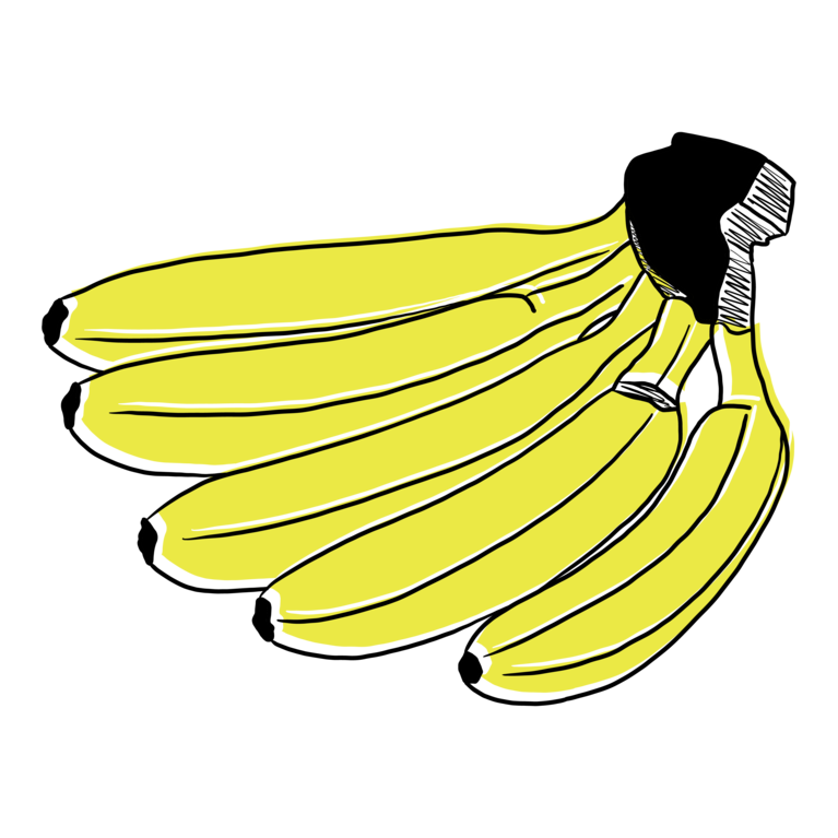 GMF 5 Bananen Illustration